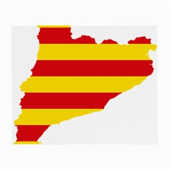 Flag Map Of Catalonia Small Glasses Cloth (2-Side)