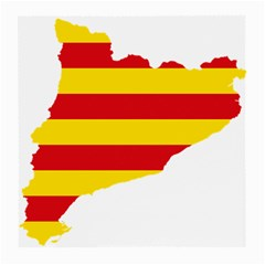 Flag Map Of Catalonia Medium Glasses Cloth (2-Side)