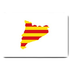 Flag Map Of Catalonia Large Doormat