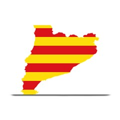 Flag Map Of Catalonia Plate Mats