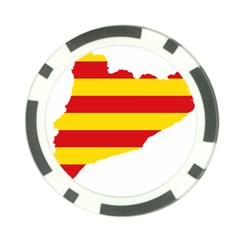 Flag Map Of Catalonia Poker Chip Card Guards