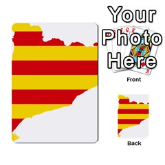 Flag Map Of Catalonia Multi-purpose Cards (Rectangle)