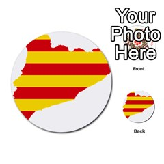Flag Map Of Catalonia Multi-purpose Cards (Round)