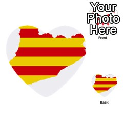 Flag Map Of Catalonia Multi-purpose Cards (Heart)