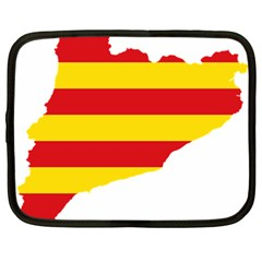 Flag Map Of Catalonia Netbook Case (Large)