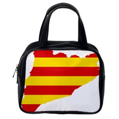 Flag Map Of Catalonia Classic Handbags (One Side)