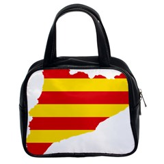 Flag Map Of Catalonia Classic Handbags (2 Sides)