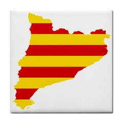 Flag Map Of Catalonia Face Towel