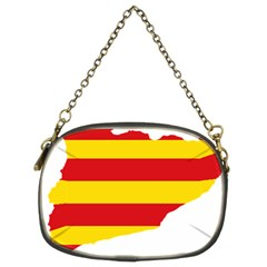 Flag Map Of Catalonia Chain Purses (Two Sides)