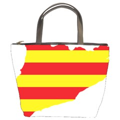 Flag Map Of Catalonia Bucket Bags