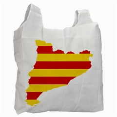 Flag Map Of Catalonia Recycle Bag (Two Side)