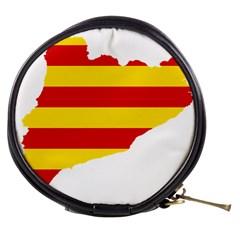 Flag Map Of Catalonia Mini Makeup Bags