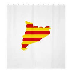 Flag Map Of Catalonia Shower Curtain 66  x 72  (Large)