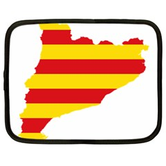 Flag Map Of Catalonia Netbook Case (XXL)