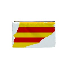 Flag Map Of Catalonia Cosmetic Bag (Small)