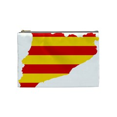 Flag Map Of Catalonia Cosmetic Bag (Medium)