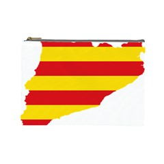 Flag Map Of Catalonia Cosmetic Bag (Large)
