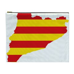 Flag Map Of Catalonia Cosmetic Bag (XL)