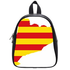 Flag Map Of Catalonia School Bags (Small)