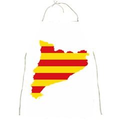 Flag Map Of Catalonia Full Print Aprons
