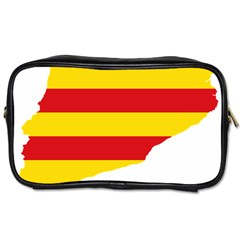 Flag Map Of Catalonia Toiletries Bags