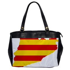 Flag Map Of Catalonia Office Handbags