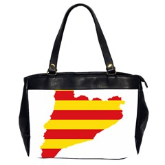 Flag Map Of Catalonia Office Handbags (2 Sides)