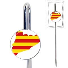 Flag Map Of Catalonia Book Mark
