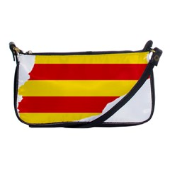 Flag Map Of Catalonia Shoulder Clutch Bags