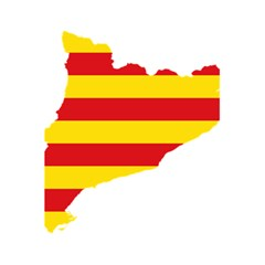 Flag Map Of Catalonia 5.5  x 8.5  Notebooks