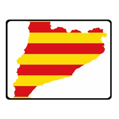Flag Map Of Catalonia Fleece Blanket (Small)