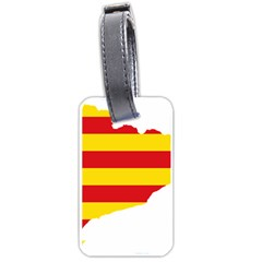 Flag Map Of Catalonia Luggage Tags (One Side)