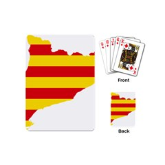 Flag Map Of Catalonia Playing Cards (Mini)