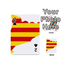 Flag Map Of Catalonia Playing Cards 54 (Mini)