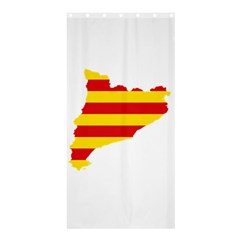 Flag Map Of Catalonia Shower Curtain 36  X 72  (stall)