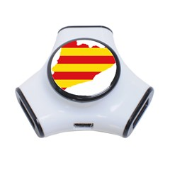 Flag Map Of Catalonia 3-Port USB Hub