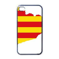 Flag Map Of Catalonia Apple iPhone 4 Case (Black)