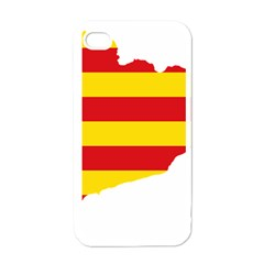 Flag Map Of Catalonia Apple iPhone 4 Case (White)