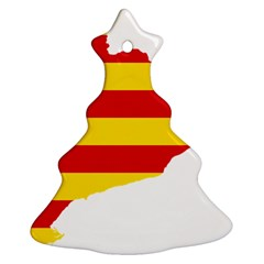 Flag Map Of Catalonia Christmas Tree Ornament (2 Sides)