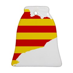 Flag Map Of Catalonia Bell Ornament (2 Sides)