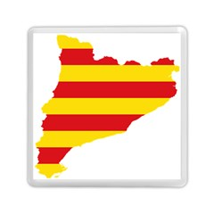 Flag Map Of Catalonia Memory Card Reader (Square)