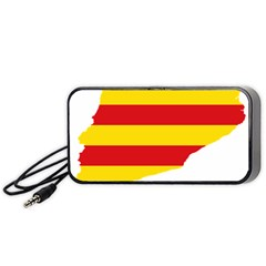 Flag Map Of Catalonia Portable Speaker (Black)