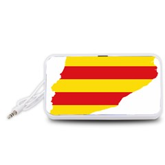 Flag Map Of Catalonia Portable Speaker (White)