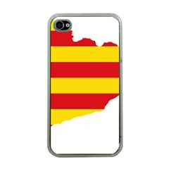 Flag Map Of Catalonia Apple iPhone 4 Case (Clear)