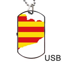 Flag Map Of Catalonia Dog Tag USB Flash (One Side)