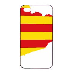 Flag Map Of Catalonia Apple iPhone 4/4s Seamless Case (Black)