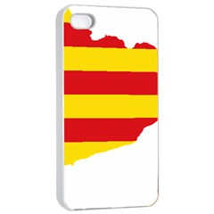 Flag Map Of Catalonia Apple iPhone 4/4s Seamless Case (White)