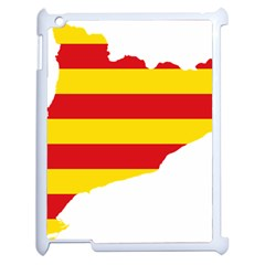Flag Map Of Catalonia Apple iPad 2 Case (White)