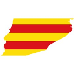 Flag Map Of Catalonia YOU ARE INVITED 3D Greeting Card (8x4)