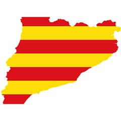Flag Map Of Catalonia Birthday Cake 3D Greeting Card (7x5)